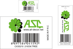 Barcode Label for The No. 1 Customer From Turkey