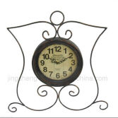 Hot sale butterfly shape metal clock for home decor