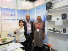 Cherry met the Africa client in Dubai fair