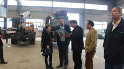 Algeria Customers visited truck crane in March 2015
