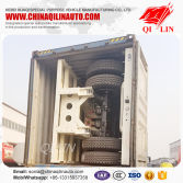 White good quality flatbed container trailer with container loading
