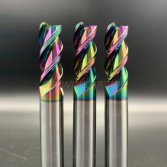 tungsten carbide dlc rainbow coating end mill