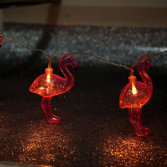 Plastic Flamingo Shaped LED Decorative Light (26-1P1618)