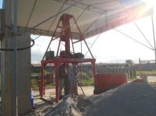 Vertical concrete pipe making machine in Philippines