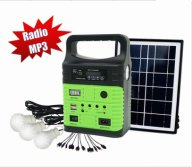 solar lamp with fm