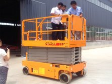 India Client come to Tavol Lifting Factory to Inspect their scissor lift