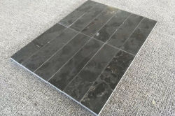 Blue limestone strip tile
