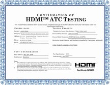 HDMI cable ATC Testing
