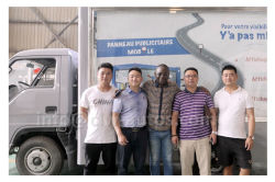 Africa Customer inspecting their 35units of LED Advertising Truck in our factory