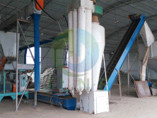 Nigeria 3t/h wood sawdust pellet production line