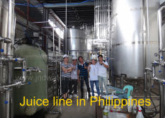Our engineers installed machines in customer′s Juice Plant in Phillppines