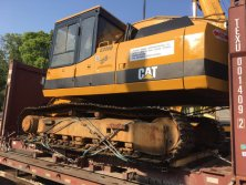 caterpillar excavator delivery photos