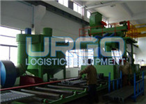 Roller type shot blast cleaning equipment