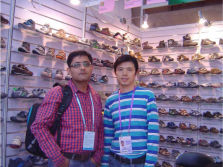 The client from India come to visit us in Canton Fair