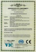 CE Certificate of Warning Post