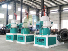 3 sets Vertical wood biomass pellet machine