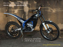 Electric Motorcycle from France drived by 5KW motor