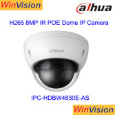 Mini Dome Dahua IR 8MP 4K IP Camera Poe Ipc-Hdbw4830e-as