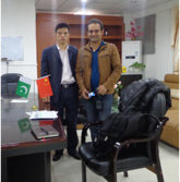 The client from Pakistan come to visit our office