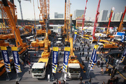 XCMG participate in the international construction machinery exhibition