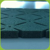 Shock pad for football field