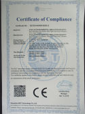 CE certificate for test chamber