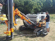Hanfa Integrated Down The Hole Surface Drill Rig At Working Site,Provided By Our Customer.