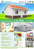 New house design: Two bedrooms light steel villa---home ownership scheme by PTH China for the world