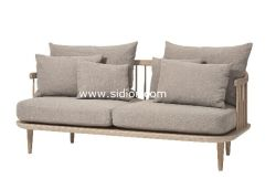 (SD-6005-2T) Modern Hotel Restaurant Living Room Furniture Wooden Fabric Sofa