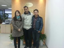 Customer visiting our company for Aluminium foil