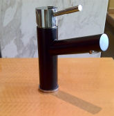 Plated Black + Polish Stainless Steel Bathroom Basin Faucet