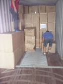 Loadding Chairs & Tables To The Container
