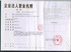 Business License for Legal Person of pidegree industry