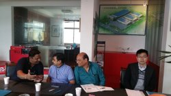 India customers visit us and discuss about the transformer core cutting line