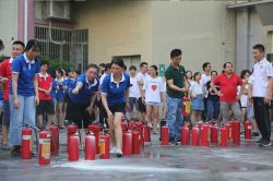 Company organizes employees to conduct fire drills