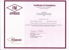 FM certificate for rock wool products