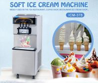 2+1 mixed flavors soft ice cream machine