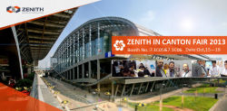 ZENITH Group will attend the 114th Canton Fair