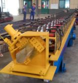 Downspout gutter roll forming machine