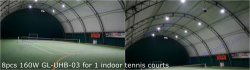 160W UFO LED high bay light for indoor tennis courts