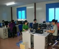 Office staff of Jiangsu ANHUA police equipment manufacturing Co,.Ltd