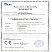 CE Certification of Cube Ice Machine