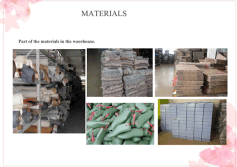 part of material in the warehouse