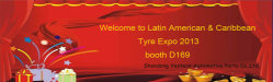 welcome to Latin American & Caribbean Tyre Expo 2013 booth D169