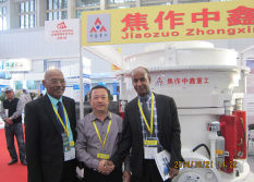 Hydraulic cone crusher participated in the Beijing Mining Exhibition