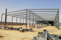 Egypt Steel Structure Workshop with area of 1680 sms*2 sheds