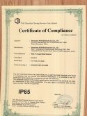 IP65 certification