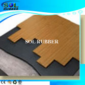 Sound absorbant Acoustic underlayer rubber flooring