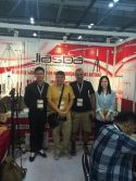 HK show fair with customer