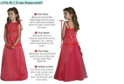 Measure guide chart For Flower Girl Dress Junior Bridesmaid Dresses